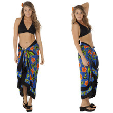 Butterfly Sarong in Blue Multi Colored