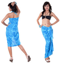 Butterfly Floral Sarong in Blue