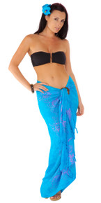 Butterfly Sarong in Blue / Purple