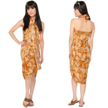"""Butterfly Sarong """"Tan / White"""" - BF-6"""