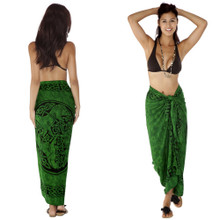 "Celtic Sarong, ""Horses"" Emerald Green"