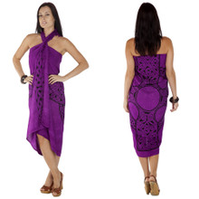 Royal Purple Celtic Cross Sarong