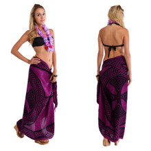"Celtic Sarong, ""Celtic Cross And Circle"" Purple"