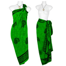 "Celtic Sarong, ""Shamrock Trinity"" Green"