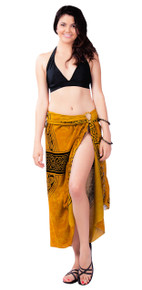 "Celtic Sarong, ""Celtic Cross 2"" Gold"