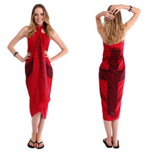 Celtic Sarong in Celtic Cross 3 Red