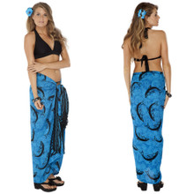 Dolphin Sarong in Turquoise