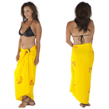 Sequined / Embroidered / Butterfly Sarong in Yellow