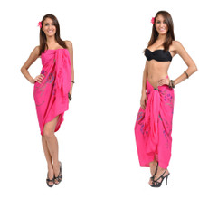Sequined / Embroidered Sarong in Hot Pink