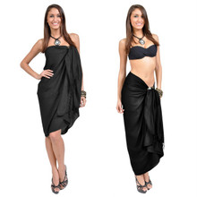 Embroidered Sarong in Black
