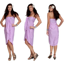 "Sequined / Embroidered / Beaded Sarong ""Lavender"""