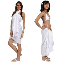 Sequined / Embroidered / Beaded Sarong in White