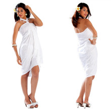 Sequined / Embroidered Sarong in White