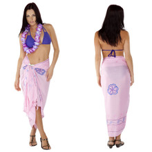 Light Pink Sarong W/ Triple Embroidery