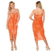 Floral Sarong in Orange