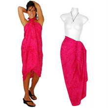 Floral Sarong in Hot Pink