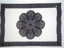 Lotus Floral Sarong in Black/White