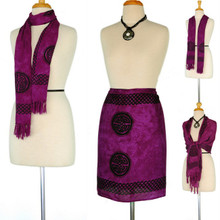 Purple Celtic Interlaced Knotwork Half Sarong