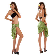 "Dragonfly Half Sarong/Mini Sarong ""Light Olive Green"""