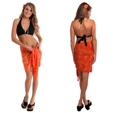 Orange Dragonfly Half Sarong/Mini Sarong