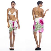 Hawaiian Half Sarong Pink/Green/White