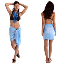 Light Blue Smoked Half Sarong