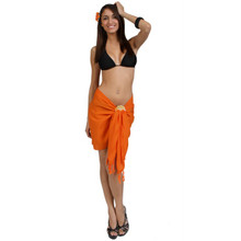 Solid Colored Half Sarong in Orange