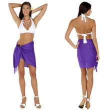 Solid Colored Half Sarong in Purple