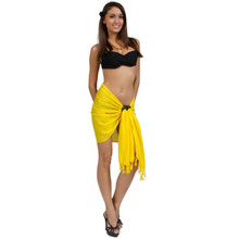 Solid Colored Half Sarong in Yellow