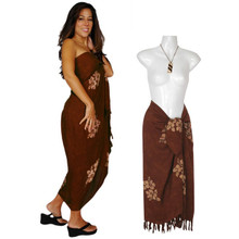 "Hibiscus Sarong ""Milk Chocolate Brown"""