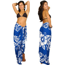 Hibiscus Sarong in Blue / White