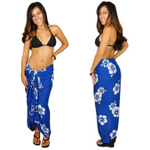 Hibiscus Sarong in Blue / White FWS-S-HI-39