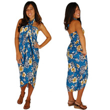 "Hibiscus Sarong ""Light Blue"" HI-48"