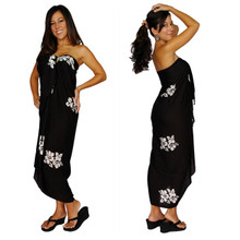 "Hibiscus Sarong ""Black / Whiteish"""