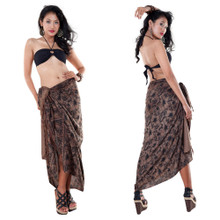 Bora Bora Floral Sarong in Brown