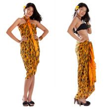 Hibiscus Flower Sarong in Orange