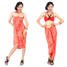 Hibiscus Flower Sarong in Red