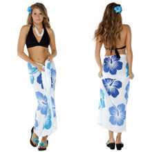 "Hawaiian Sarong ""Blue / White"""