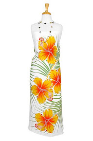Hawaiian Sarong in Yellow / Green / White