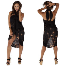 Bamboo Plus Sized Sarong in Black
