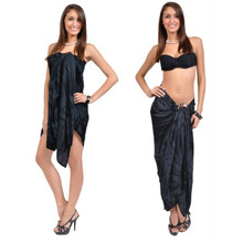 "Smoked Plus Size Sarong ""Charcoal Gray"""