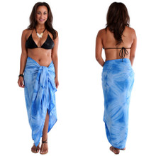 Light Blue Smoked Plus Size Sarong