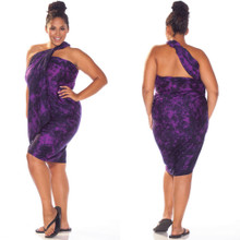Purple Smoked Plus Size Sarong