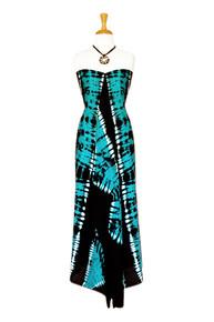 Jungle Baby Blue Plus Size Fringeless Tie Dye Sarong