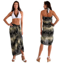 Reptile Skin Pattern Sarong in Brown / Black