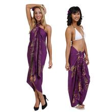 """Seashell Sarong """"Purples"""""""