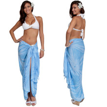 Light Blue Smoked Sarong