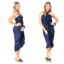 Smoked Sarong in Navy Blue