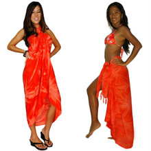 Smoked Sarong in Orange