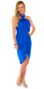 Solid Colored Sarong in Blue